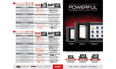 MaxiSYS Comparison Chart Brochure